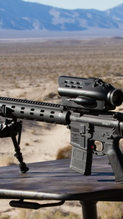 TrackingPoint 338TP, Mile Maker, Precision-Guided Firearm, Linux, sniper rifle, scope (vertical)