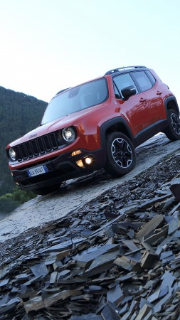 Jeep Renegade, crossover, SUV, 2015 cars, Detroit, review, test drive, front (vertical)