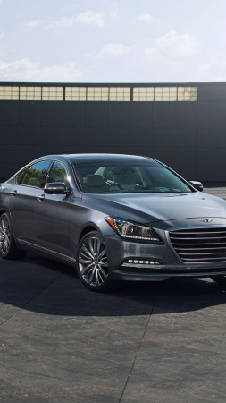 Hyundai Genesis, HCD-14, hybrid, DH, luxury cars, 2015 cars, review, test drive, front (vertical)