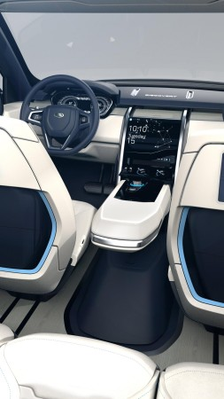 Land Rover Discovery Vision, 2015 cars, luxury cars, crossover, test drive, review, concept, interior (vertical)