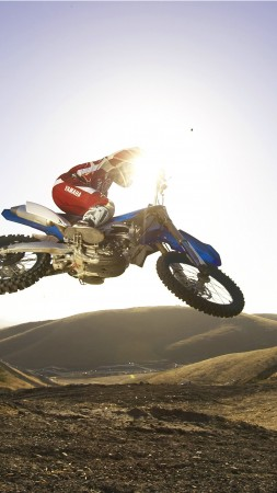 Yamaha YZ250F, motorcycle, motocross, 2015, sport bike, test drive, review, bike (vertical)