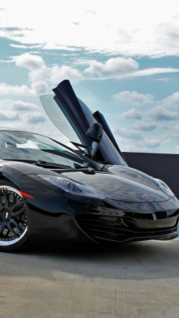 McLaren 12C, MP4-12C, supercar, luxury cars, sports car, test drive, review, doors, silver (vertical)