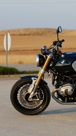 BMW R nineT, motorcycle, 2015, bike, review, test drive, speed, buy, rent, side, road (vertical)