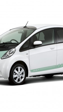 Mitsubishi CA-MiEV, concept, hybrid, ecosafe, electric cars, city cars, review, test drive, front, side (vertical)