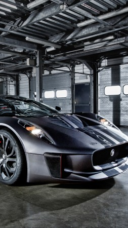 Jaguar C-X75, electric car, hybrid, supercar, sports car, review, test drive, speed, side (vertical)