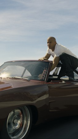 Furious 7, Best Movies of 2015, Fast & Furious 7, racing, cars, Vin Diesel, Paul Walker, Dwayne Johnson, Ludacris, Michelle Rodriguez, review, HD (vertical)