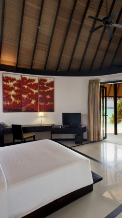 The Sun Siyam Iru Fushi, Best Hotels of 2015, tourism, travel, resort, vacation, bed, room