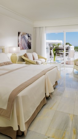 Iberostar Marbella Coral Beach, Best Hotels of 2015, tourism, travel, resort, vacation, bed, room, white (vertical)