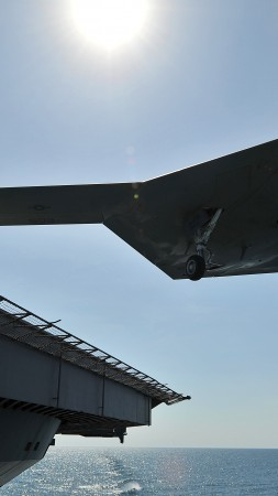 X-47B, drone, Northrop Grumman, UCAS-D, Pegasus, US Army, flight, U.S. Air Force (vertical)