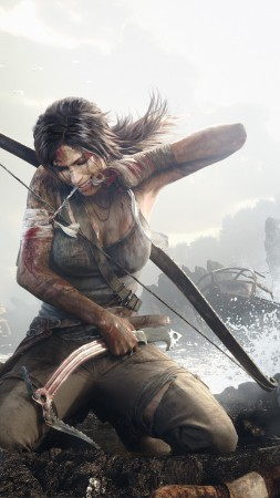 Rise of the Tomb Raider, 5k, 4k wallpaper, Tomb Rider, Best Games 2015, gameplay, review, screenshot, ship (vertical)