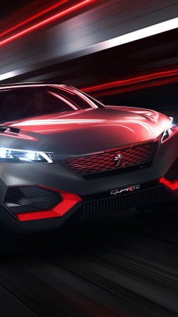Peugeot Quartz, concept, interior, supercar, sports car, luxury cars, review, test drive, front (vertical)