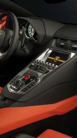 Lamborghini Aventador, supercar, interior, Lamborghini, luxury cars, sports car, red, test drive, buy, rent (vertical)