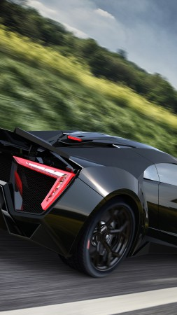 Lykan HyperSport, supercar, W Motors, sports car, luxury cars, speed, test drive, black, road (vertical)