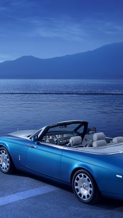 Rolls-Royce Phantom Drophead Coupe, cabriolet, water, supercar, luxury cars (vertical)