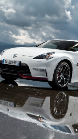 Nissan 370Z, NISMO, Fairlady Z, sports car, luxury cars, review, test drive, white, front (vertical)