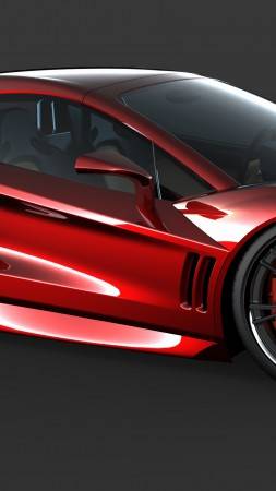 Transtar Dagger GT, supercar, sports car, luxury cars, review, test drive, Top Gear, side, red (vertical)