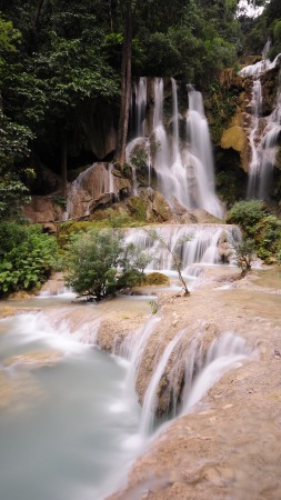 Dalat Waterfall, 4k, HD wallpaper, falls, Pongour, waterfall, Vietnam, mountain, river (vertical)