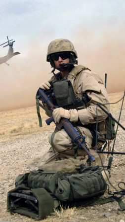 U.S. Air Force, soldier, assault rifle, rescue mission, helicopter landing