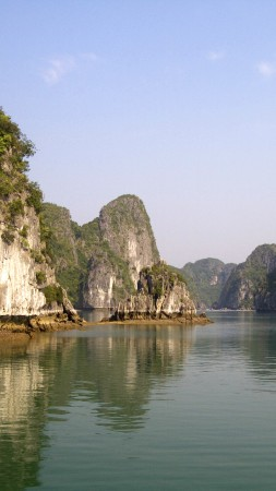 Ha Long Bay, 5k, 4k wallpaper, 8k, Halong Bay, Vietnam, mountains, cruises, travel, rest, boat, river (vertical)