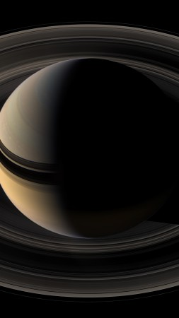 saturn, planet, space (vertical)