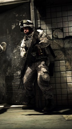 Battlefield 3, game, shooter, soldier, assault, gameplay, interface, screenshot, art (vertical)