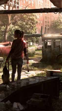 The Last of Us Remastered, game, survival horror, Ellie, Last of Us, art, Fireflies, zombie, zombie fungus (vertical)