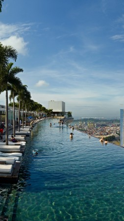 Marina Bay Sands, infinity pool, pool, hotel, travel, booking, casino, Singapore (vertical)