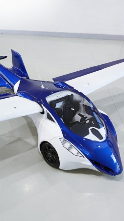 AeroMobil 3.0, concept, car, aircraft, flying car, prototype, runway, front, test drive (vertical)