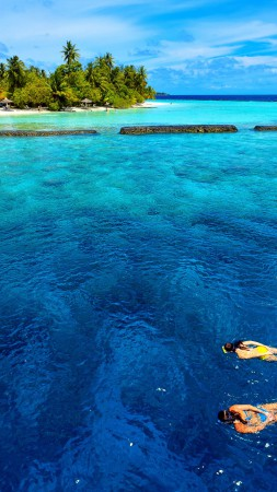 Baros Maldives, Male Attols, Best Hotels of 2017, Best Beaches in the World, tourism, travel, vacation, sea, ocean, water, sky, clouds, World's best diving sites (vertical)