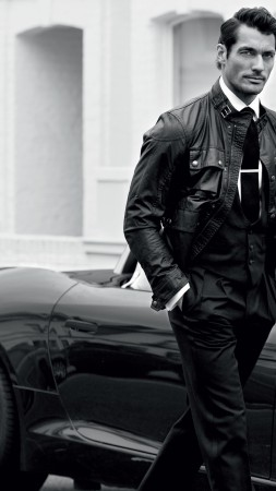 David Gandy, Top Fashion Models 2015, model, London, UK, car, street (vertical)