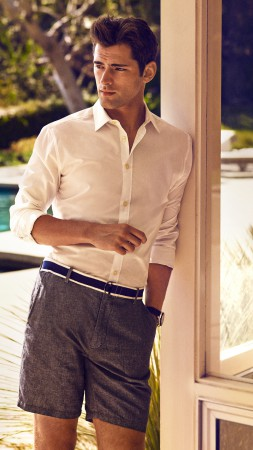 Sean O'Pry, Top Fashion Male Models, model, shorts, pool (vertical)