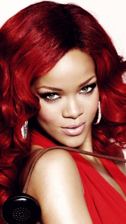 Rihanna, Most Popular Celebs in 2015, singer, music, actress, red hair, look (vertical)