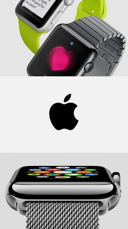 Apple Watch, watches, wallpaper, 5k, 4k, review, iWatch, Apple, interface, display, silver, Real Futuristic Gadgets (vertical)