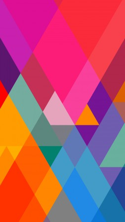 polygon, 4k, 5k wallpaper, iphone wallpaper, triangle, background, orange, red, blue, pattern (vertical)