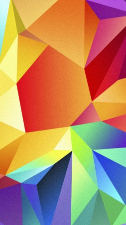 polygon, 4k, HD wallpaper, android, triangle, background, orange, red, blue, pattern (vertical)