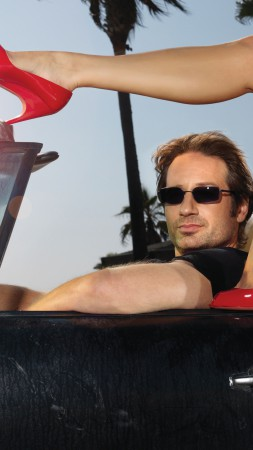 David Duchovny, Most Popular Celebs in 2015, actor, writer, director, Californication, car, shoes, glasses (vertical)