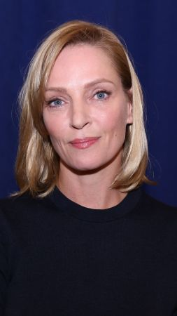 Uma Thurman, Most Popular Celebs in 2015, actress, model, American Dad, Kill Bill, Best International Actress, pool, white dress (vertical)