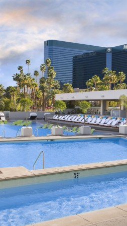 Wet Republic Las Vegas, The best hotel pools 2017, tourism, travel, resort, vacation, pool, water, sunbed (vertical)