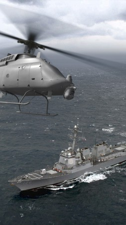 DDG-106, MQ-8C Fire Scout, helicopter, drone, US Army, U.S. Air Force (vertical)