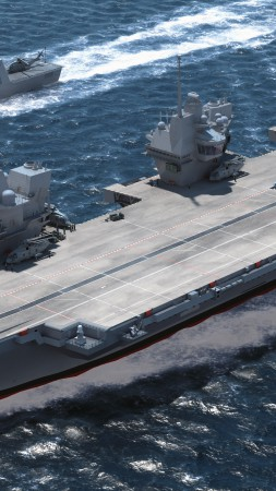 HMS Queen Elizabeth, lead ship, aircraft carrier, Royal Navy, English Armed Forces (vertical)