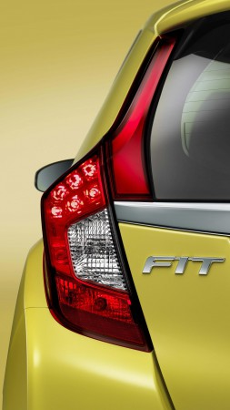 Honda Fit Hybrid, Best Cars 2015, Honda Jazz, city cars, yellow, back, test drive (vertical)