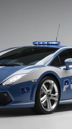 Lamborghini Huracan LP610-4 Polizia, supercar, police car, luxury cars, sports car, test drive (vertical)