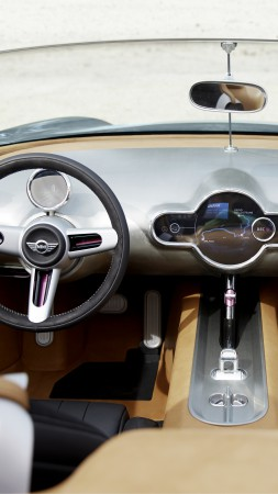 Mini Superleggera Vision, concept, cabriolet, roadster, interior, cockpit, test drive (vertical)