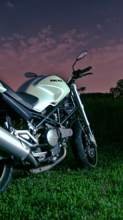 Ducati Monster 796, night sky, motorcycle, racing, bike, sport bike, review, test drive, buy, rent (vertical)