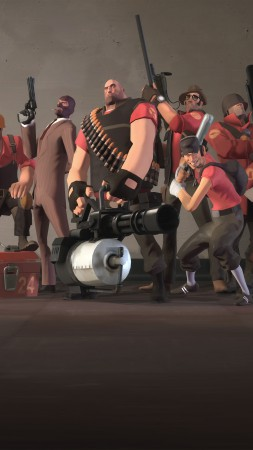 Team Fortress 2, TF2, FPS, all characters, screnshot, 4k, 6k, 8k, Ultra HD, review, PC (vertical)