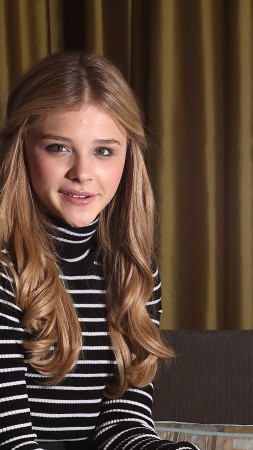 Chloe Moretz, actress, Most Popular Celebs in 2015, blonde, portrait (vertical)