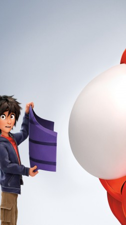 Big Hero 6, cartoon, Baymax, Hiro Hamada, superhero, review, 3D, watch, HD, Best Animation Movies of 2015 (vertical)