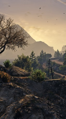 GTA 5, GTA V, Grand Theft Auto, game, country, screenshot, gameplay, review, PS4, Xbox One, PC (vertical)