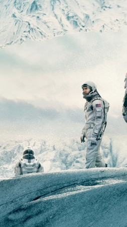 Interstellar, movie, matthew mcconaughey, space suit, snow, winter, white, sky (vertical)
