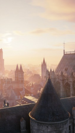 Assassin's Creed: Unity, game, stealth action game, city, screenshot, gameplay, review, 4k, 5k, PS4, Xbox One, PC (vertical)